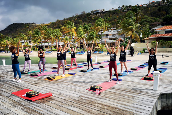 Get active in Antigua with Fleur East's W8 Gym