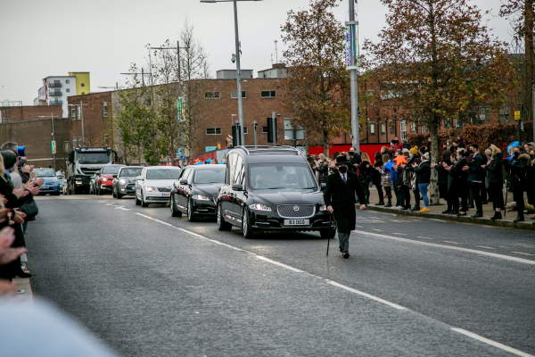 Crowds line streets of Sunderland in tribute to John Hays