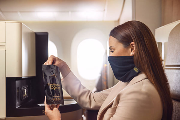 Etihad introduces face protection for premium passengers