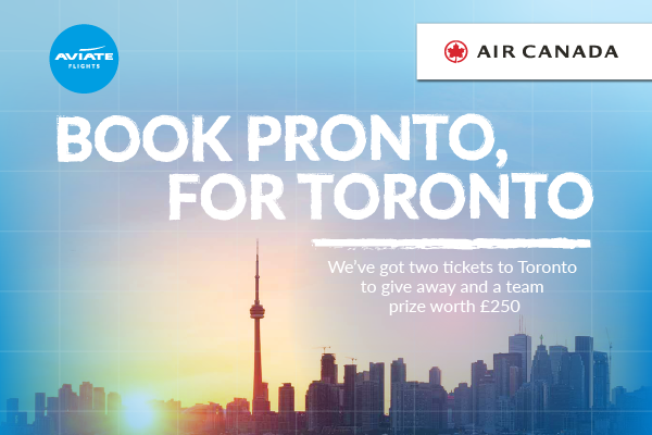 Win a pair of economy class tickets to Toronto with Air Canada and Aviate
