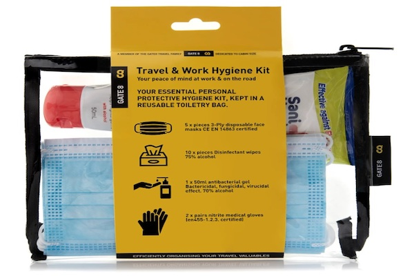 Luggage firm promotes traveller hygiene kits to trade