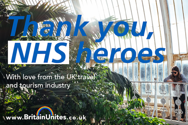 UK attractions unite to thank healthcare workers