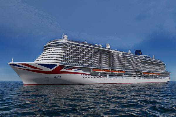 P&O's Iona to sail to Norwegian fjords in first season