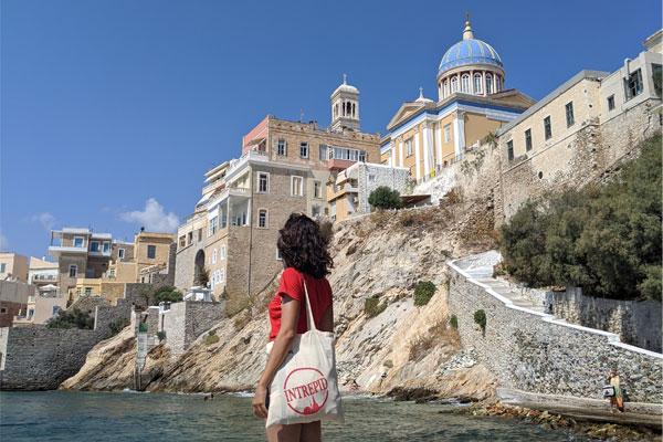 Exploring the Cyclades island of Syros on an Intrepid Travel tour