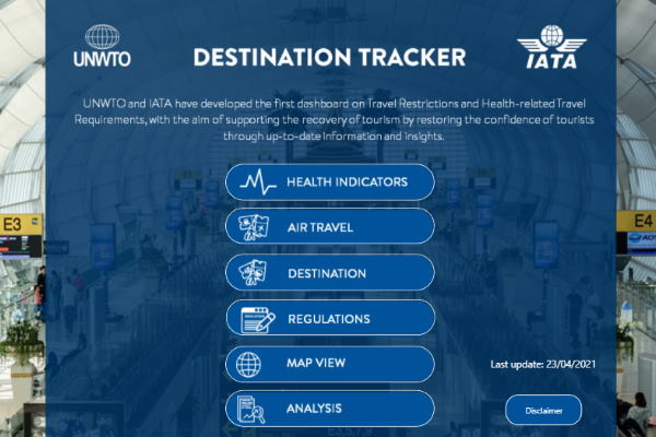 UNWTO and Iata partner on free Destination Tracker