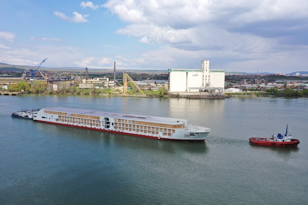 A-Rosa's latest vessel heads to Rotterdam for interior work