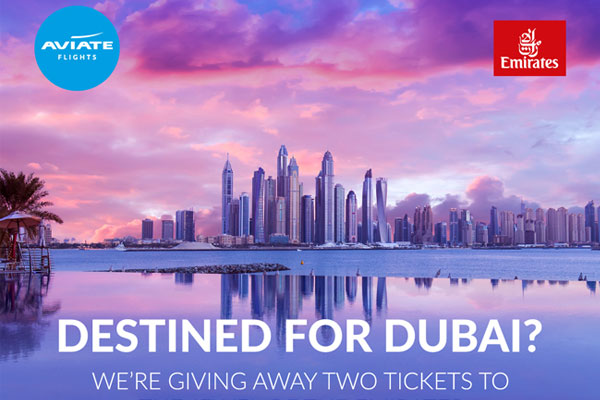 Win two tickets to Dubai with Emirates and Aviate