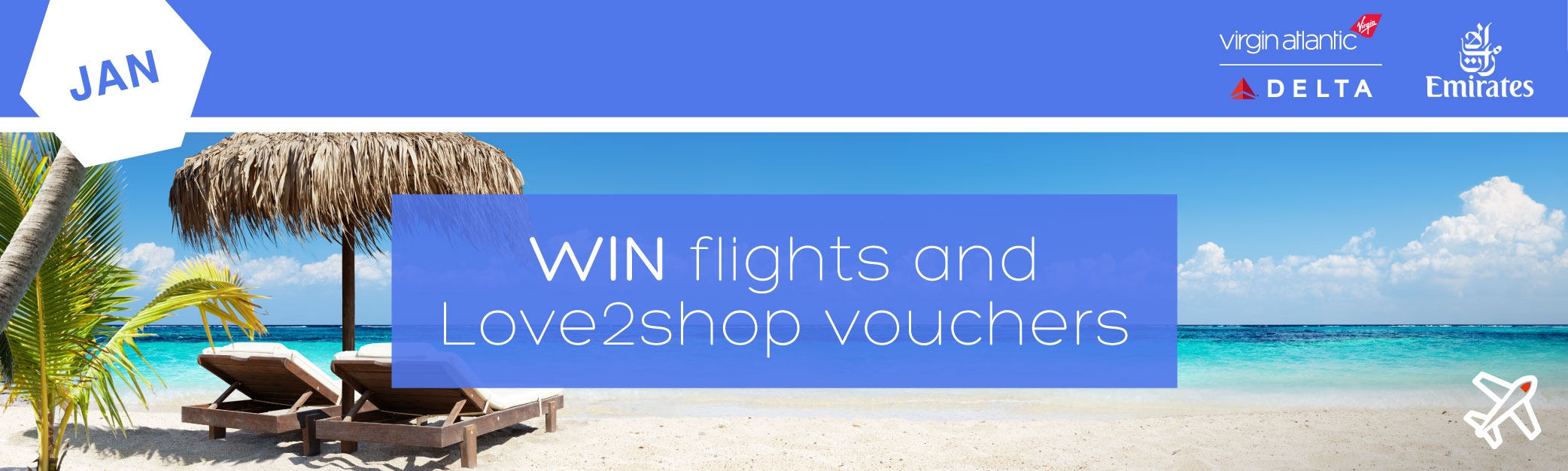 Faremine: Win flights and Love2shop vouchers