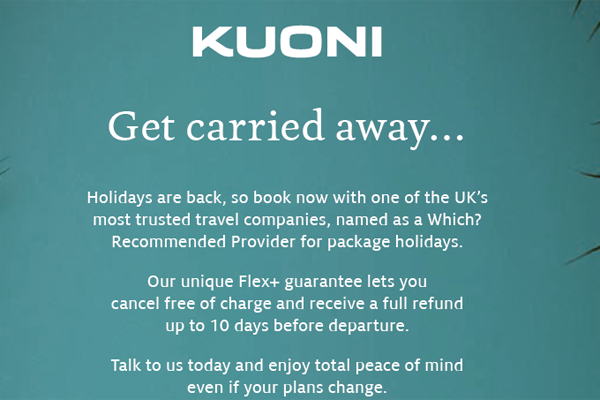 Kuoni launches campaign to boost customer confidence