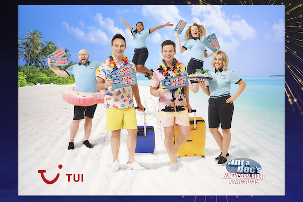Tui is prize partner for Ant & Dec's Saturday Night Takeaway