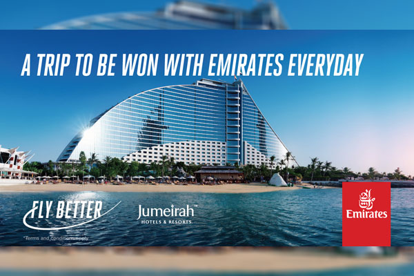 Win a trip to Dubai for two with Emirates and Jumeirah Hotels & Resorts