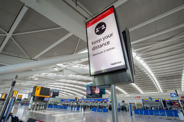 Heathrow passenger traffic falls 82% in March