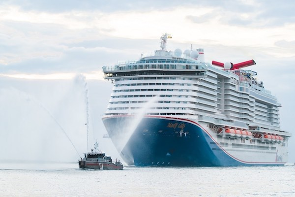 New Carnival Cruise Line ship arrives at US home port