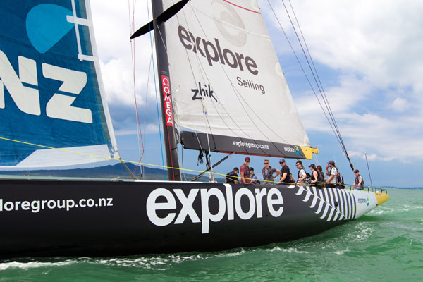 Sailing Auckland's harbour in an America's Cup yacht