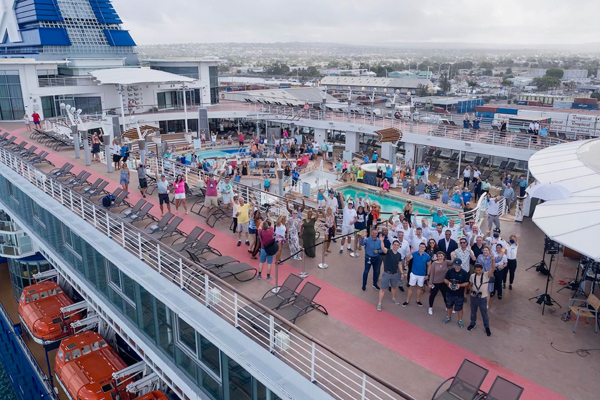 Barbados welcomes first cruise ship this year
