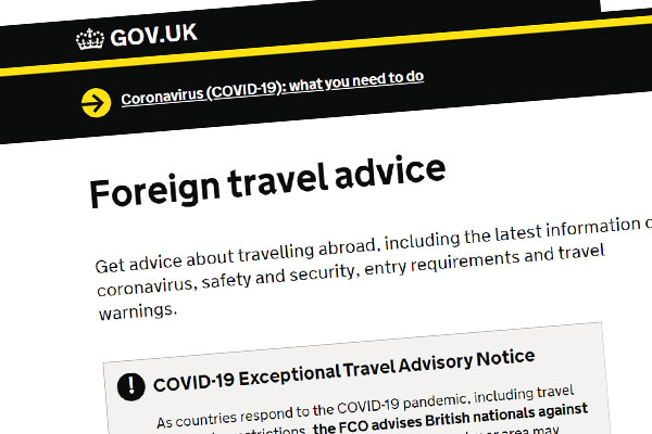 Foreign Office drops advice against travel to some destinations