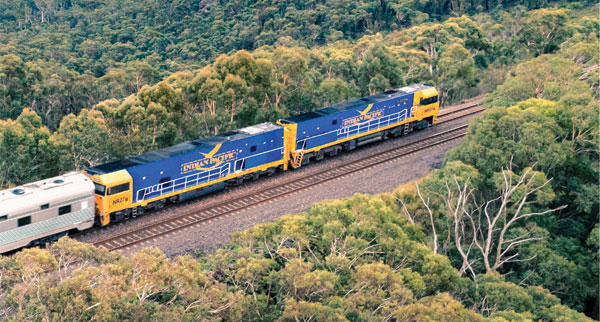 Exploring Australia on board the Indian Pacific train