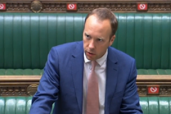 Health secretary defends green list decision in House of Commons