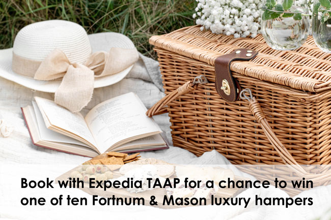 Win luxury hampers with Expedia TAAP