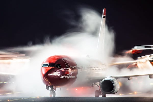 Norwegian Air's February passenger numbers slump by 97%
