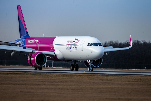 Wizz Air annual carryings slump 75%