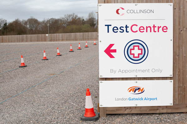 New Gatwick car park Covid testing site opens