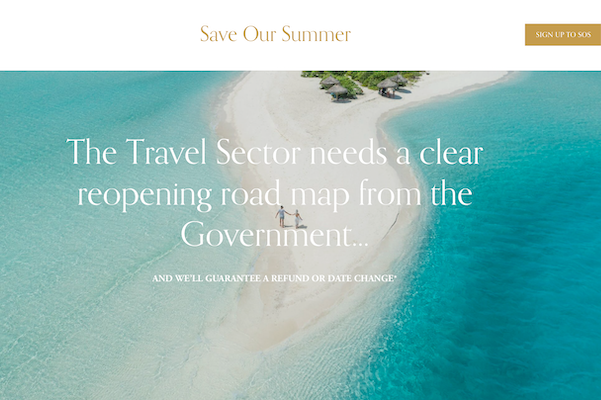 A new alliance of more than 120 UK travel companies – called Save Our Summer – is urging the government to allow overseas travel to restart on May 1.