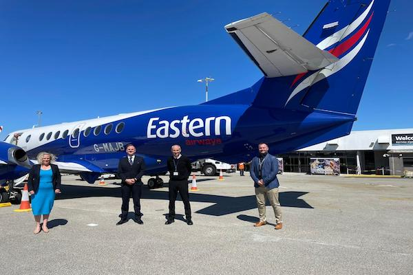 Newquay Cornwall airport reopens with Eastern Airways flight